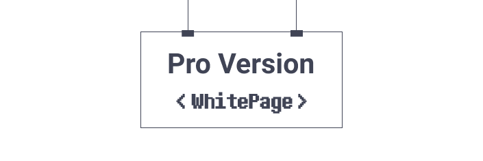 Pro Version White Page